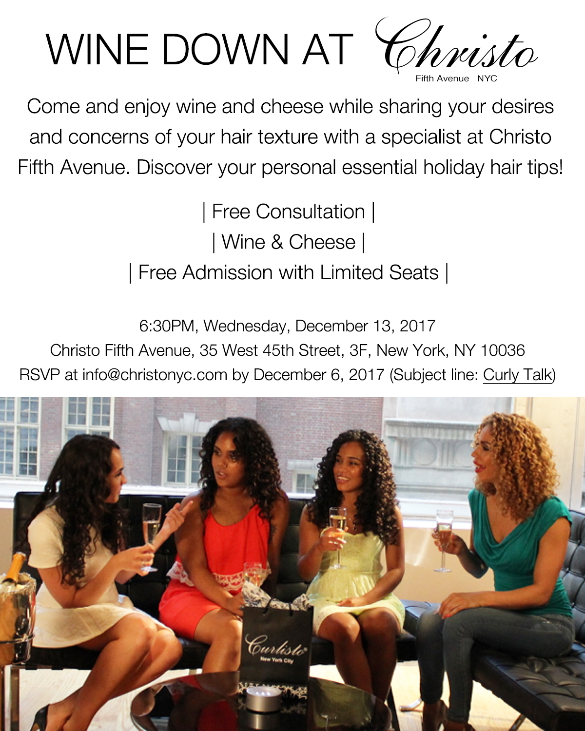Flyer-Wine Event at Christo Fifth Avenue